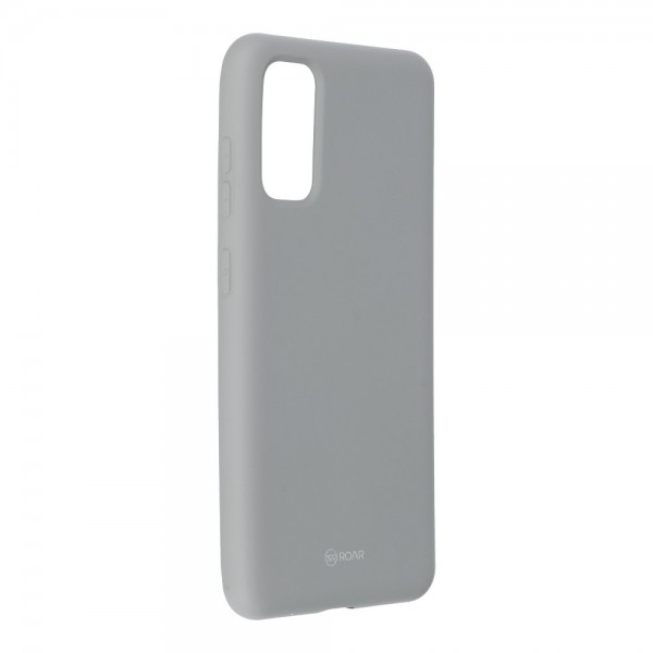 Husa Spate Silicon Roar Jelly Samsung Galaxy S20 Grey imagine itelmobile.ro 2021