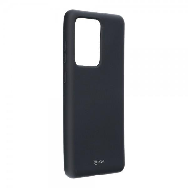 Husa Spate Silicon Roar Jelly Samsung Galaxy S20 Ultra Negru imagine itelmobile.ro 2021