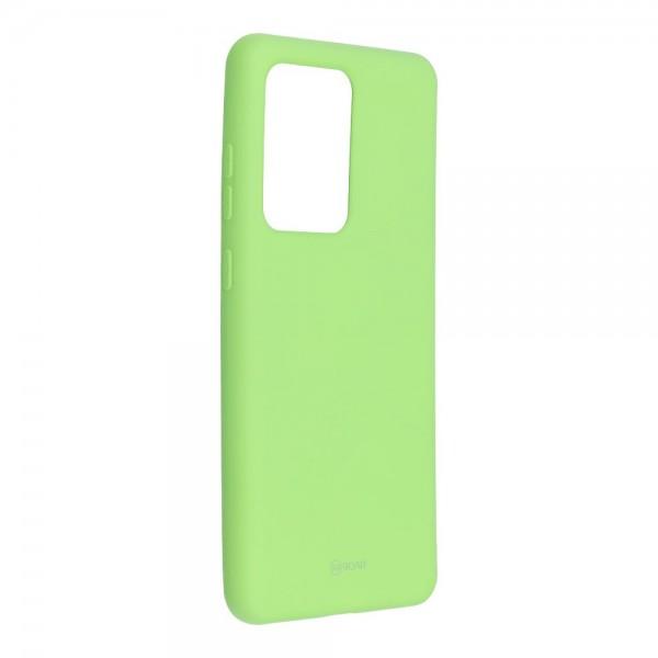 Husa Spate Silicon Roar Jelly Samsung Galaxy S20 Ultra Verde Lime imagine itelmobile.ro 2021