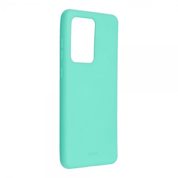 Husa Spate Silicon Roar Jelly Samsung Galaxy S20 Ultra Verde Menta imagine itelmobile.ro 2021