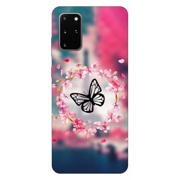 Husa Silicon Soft Upzz Print Samsung Galaxy S20 Plus Model Butterfly imagine itelmobile.ro 2021