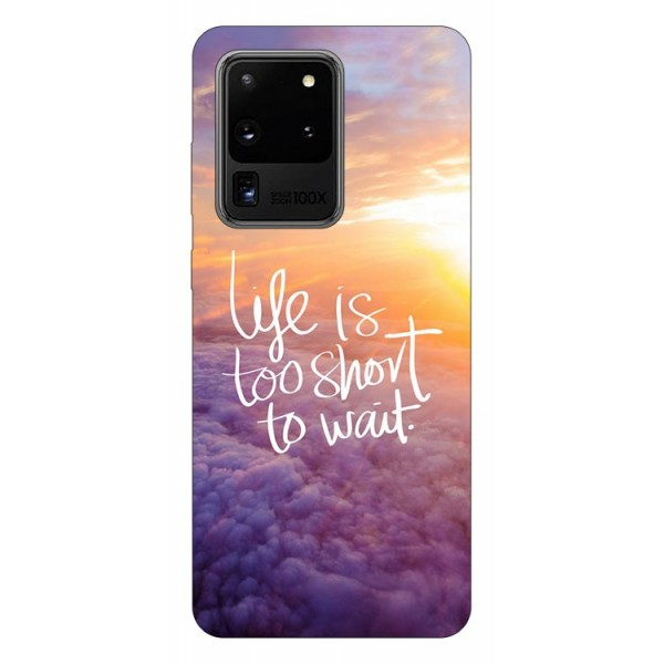 Husa Silicon Soft Upzz Print Samsung Galaxy S20 Ultra Model Life imagine itelmobile.ro 2021