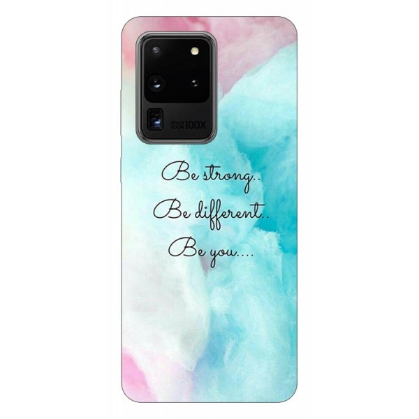 Husa Silicon Soft Upzz Print Samsung Galaxy S20 Ultra Model Be You imagine itelmobile.ro 2021