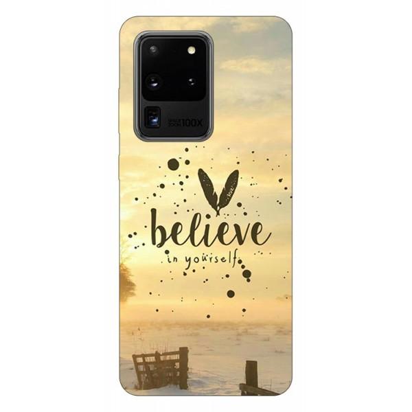 Husa Silicon Soft Upzz Print Samsung Galaxy S20 Ultra Model Believe imagine itelmobile.ro 2021