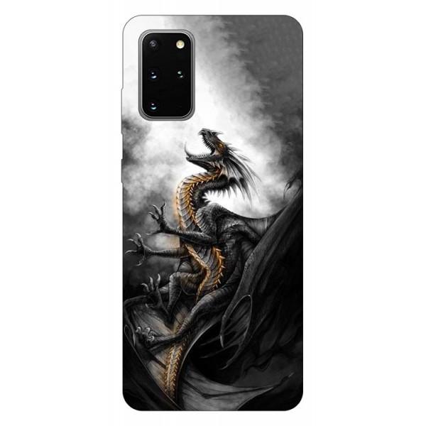 Husa Silicon Soft Upzz Print Samsung Galaxy S20 Plus Model Dragon 1 imagine itelmobile.ro 2021