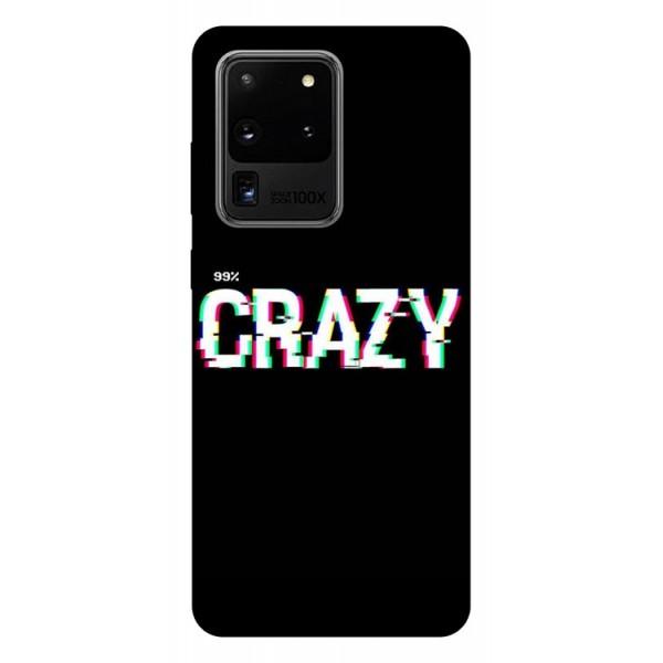 Husa Silicon Soft Upzz Print Samsung Galaxy S20 Ultra Model Crazy imagine itelmobile.ro 2021