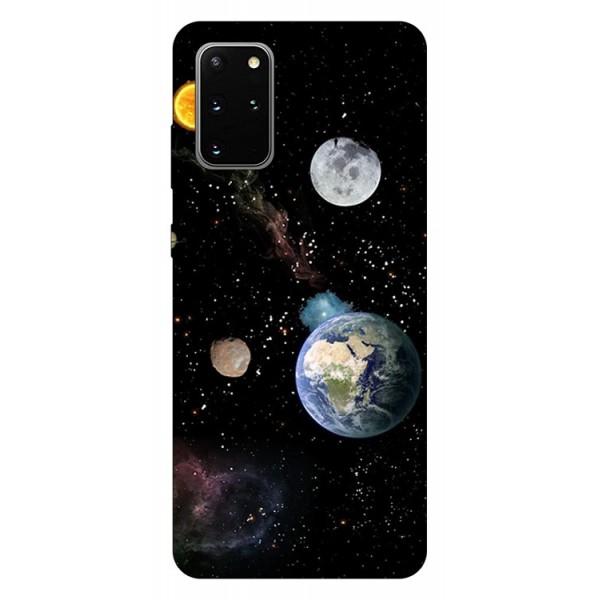 Husa Silicon Soft Upzz Print Samsung Galaxy S20 Plus Model Earth imagine itelmobile.ro 2021
