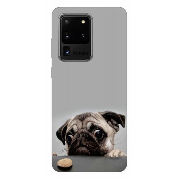 Husa Silicon Soft Upzz Print Samsung Galaxy S20 Ultra Model Dog imagine itelmobile.ro 2021