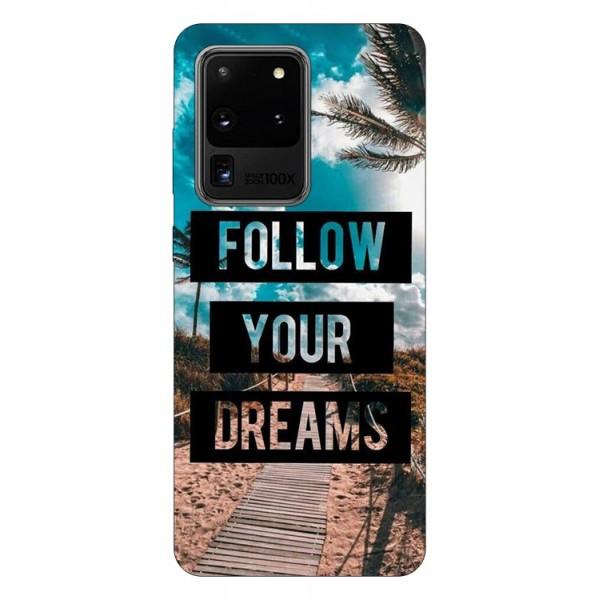 Husa Silicon Soft Upzz Print Samsung Galaxy S20 Ultra Model Dreams imagine itelmobile.ro 2021