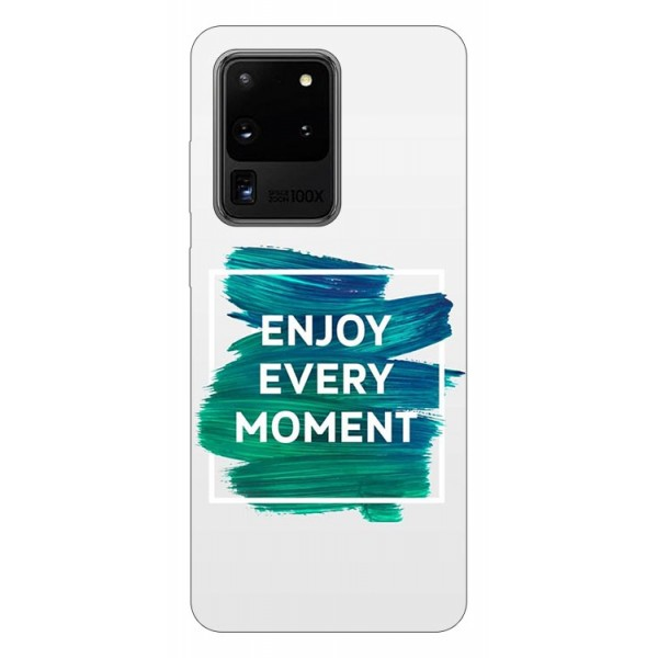 Husa Silicon Soft Upzz Print Samsung Galaxy S20 Ultra Model Enjoy imagine itelmobile.ro 2021
