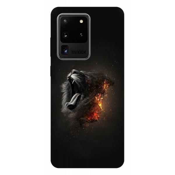 Husa Silicon Soft Upzz Print Samsung Galaxy S20 Ultra Model Lion imagine itelmobile.ro 2021