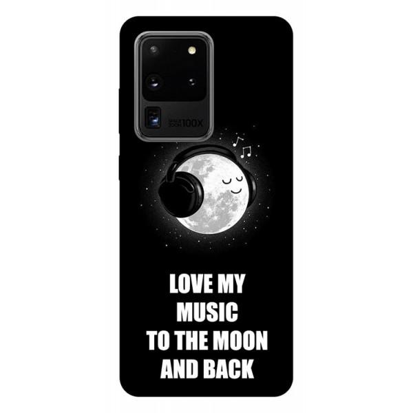 Husa Silicon Soft Upzz Print Samsung Galaxy S20 Ultra Model Music imagine itelmobile.ro 2021