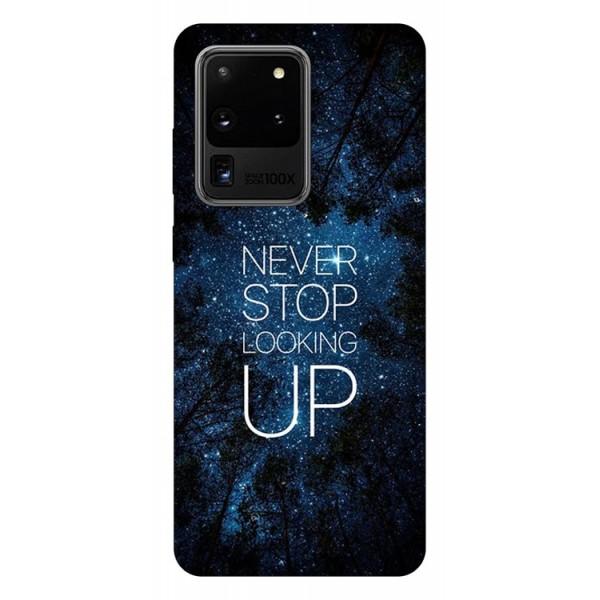 Husa Silicon Soft Upzz Print Samsung Galaxy S20 Ultra Model Never Stop imagine itelmobile.ro 2021