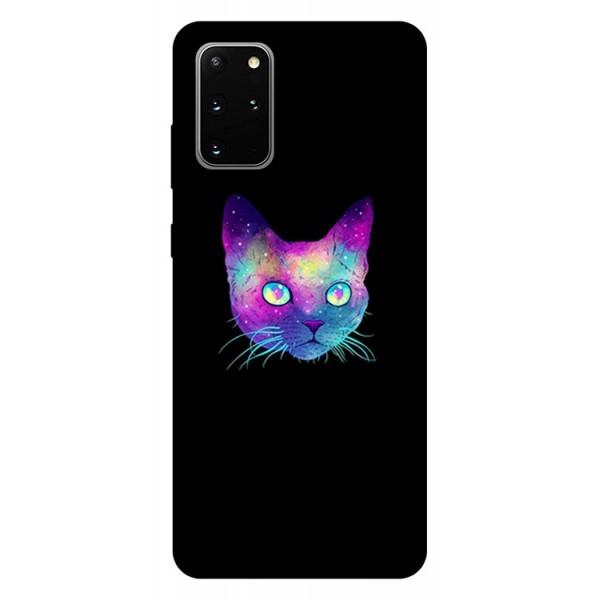 Husa Silicon Soft Upzz Print Samsung Galaxy S20 Plus Model Neon Cat imagine itelmobile.ro 2021