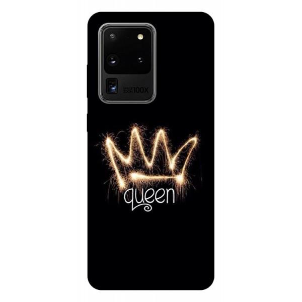 Husa Silicon Soft Upzz Print Samsung Galaxy S20 Ultra Model Queen imagine itelmobile.ro 2021