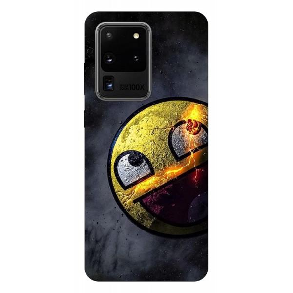 Husa Silicon Soft Upzz Print Samsung Galaxy S20 Ultra Model Smile 1 imagine itelmobile.ro 2021