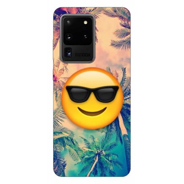 Husa Silicon Soft Upzz Print Samsung Galaxy S20 Ultra Model Smile imagine itelmobile.ro 2021
