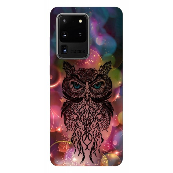 Husa Silicon Soft Upzz Print Samsung Galaxy S20 Ultra Model Sparkle Owl imagine itelmobile.ro 2021