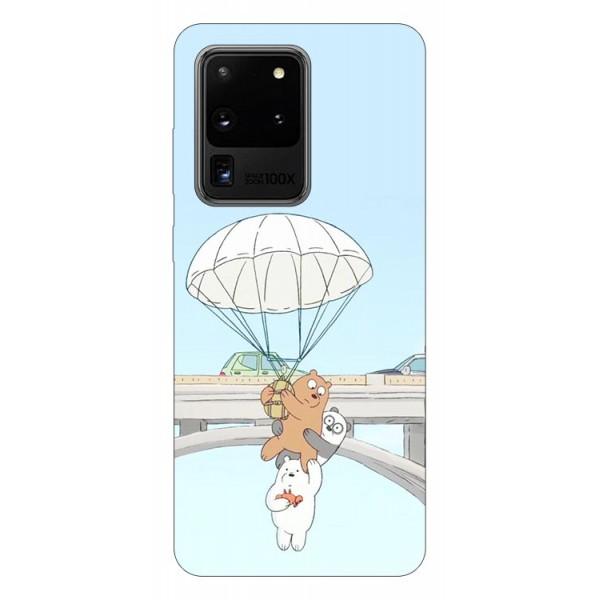 Husa Silicon Soft Upzz Print Samsung Galaxy S20 Ultra Model Three Bears imagine itelmobile.ro 2021