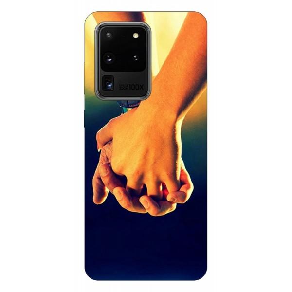 Husa Silicon Soft Upzz Print Samsung Galaxy S20 Ultra Model Together imagine itelmobile.ro 2021