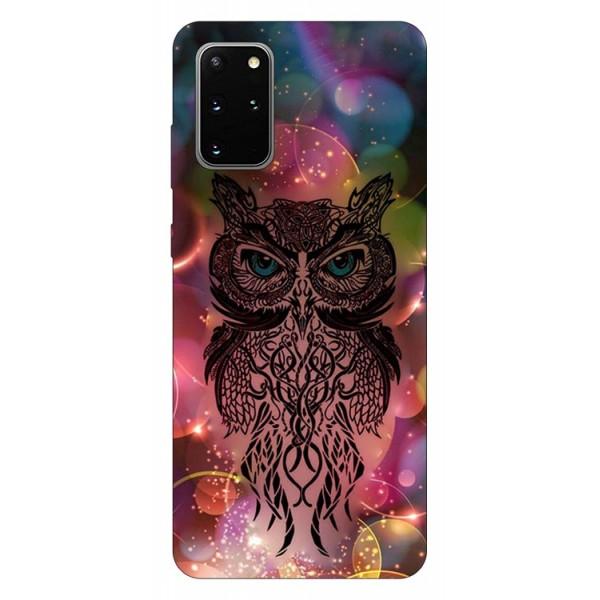 Husa Silicon Soft Upzz Print Samsung Galaxy S20 Plus Model Sparkle Owl imagine itelmobile.ro 2021