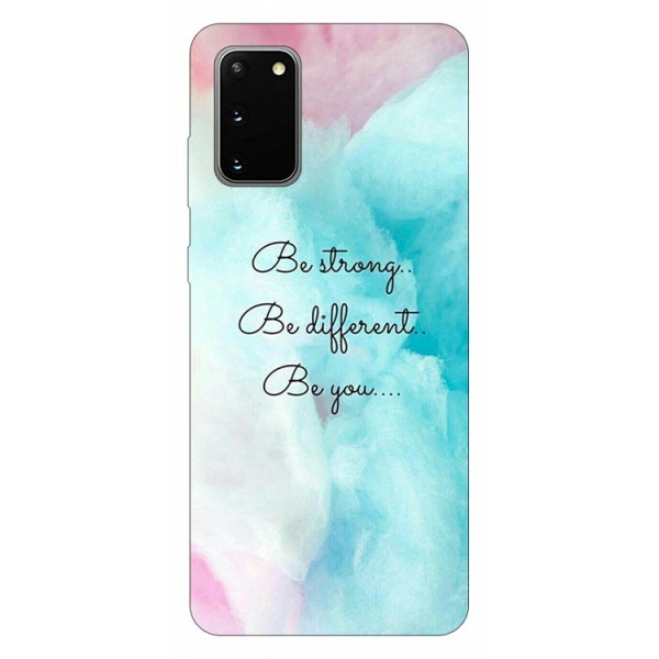 Husa Silicon Soft Upzz Print Samsung Galaxy S20 Model Be You imagine itelmobile.ro 2021