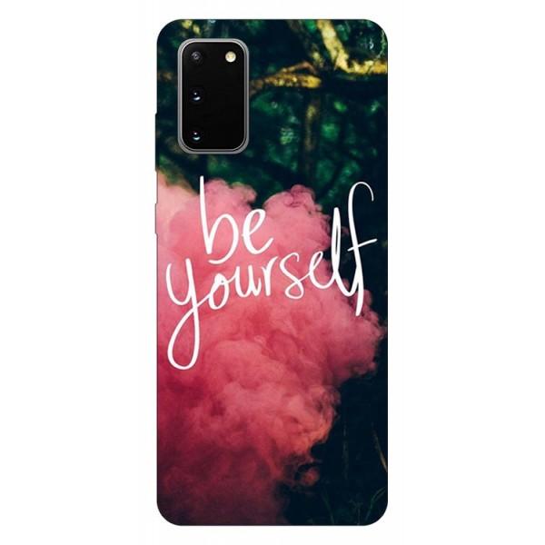 Husa Silicon Soft Upzz Print Samsung Galaxy S20 Model Be Yourself imagine itelmobile.ro 2021
