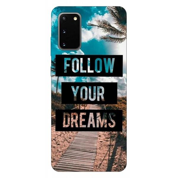 Husa Silicon Soft Upzz Print Samsung Galaxy S20 Model Dreams imagine itelmobile.ro 2021