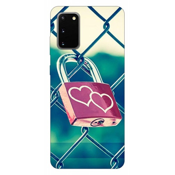 Husa Silicon Soft Upzz Print Samsung Galaxy S20 Model Heart Lock imagine itelmobile.ro 2021