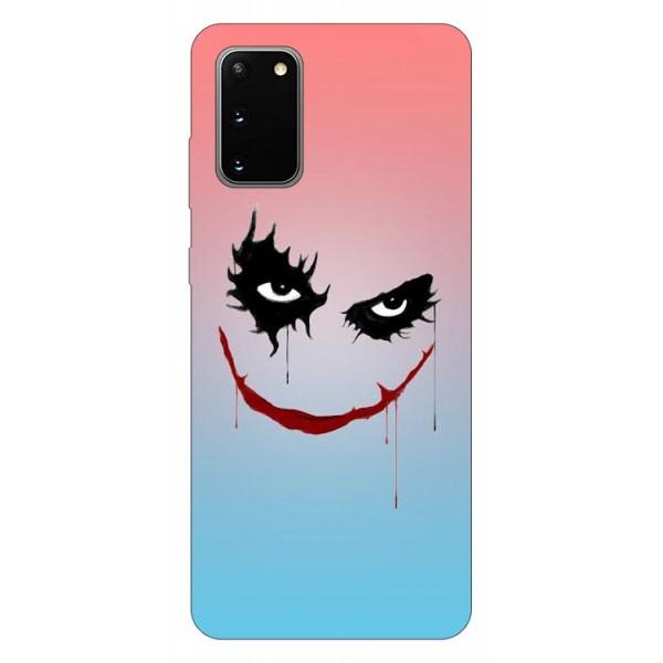 Husa Silicon Soft Upzz Print Samsung Galaxy S20 Model Joker imagine itelmobile.ro 2021