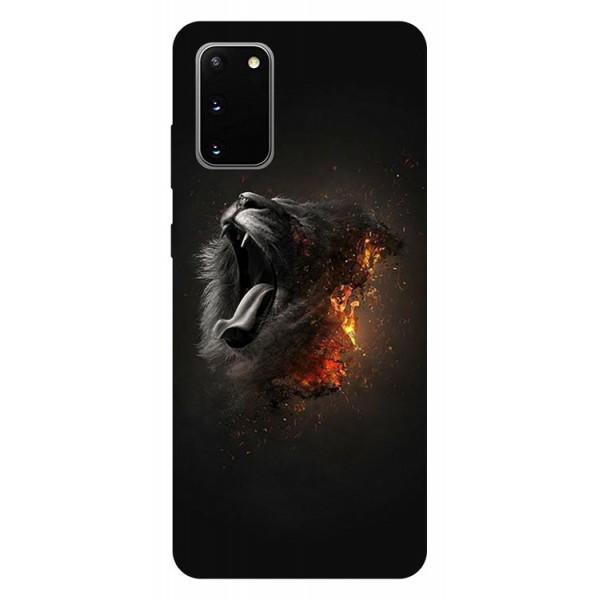 Husa Silicon Soft Upzz Print Samsung Galaxy S20 Model Lion imagine itelmobile.ro 2021