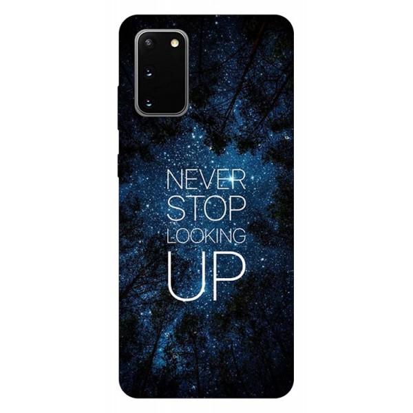 Husa Silicon Soft Upzz Print Samsung Galaxy S20 Model Never Stop imagine itelmobile.ro 2021