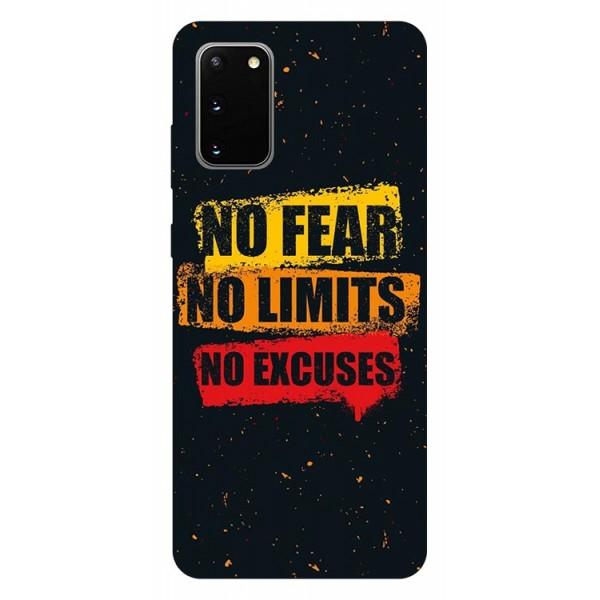 Husa Silicon Soft Upzz Print Samsung Galaxy S20 Model No Fear imagine itelmobile.ro 2021