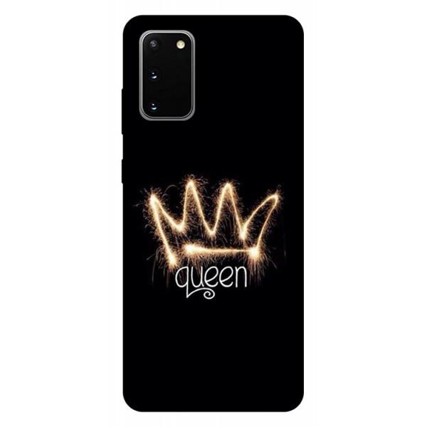 Husa Silicon Soft Upzz Print Samsung Galaxy S20 Model Queen imagine itelmobile.ro 2021