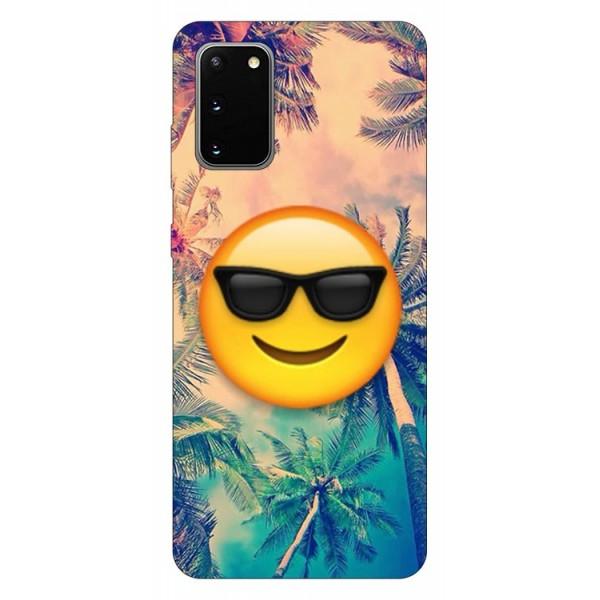 Husa Silicon Soft Upzz Print Samsung Galaxy S20 Model Smile imagine itelmobile.ro 2021