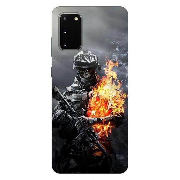 Husa Silicon Soft Upzz Print Samsung Galaxy S20 Model Soldier imagine itelmobile.ro 2021