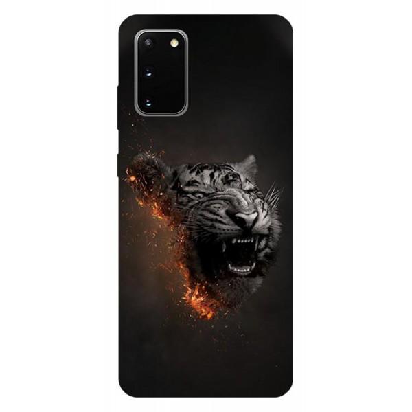 Husa Silicon Soft Upzz Print Samsung Galaxy S20 Model Tiger imagine itelmobile.ro 2021