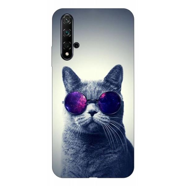 Husa Silicon Soft Upzz Print Huawei Nova 5t Model Cool Cat imagine itelmobile.ro 2021