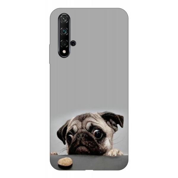 Husa Silicon Soft Upzz Print Huawei Nova 5t Model Dog imagine itelmobile.ro 2021