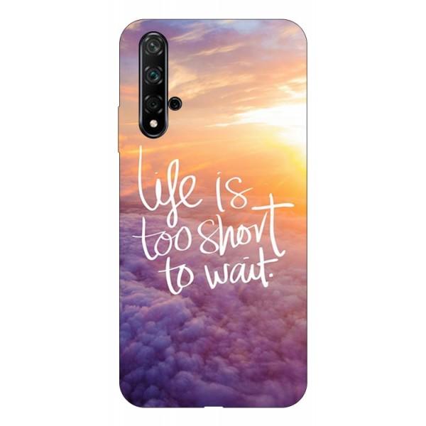 Husa Silicon Soft Upzz Print Huawei Nova 5t Model Life imagine itelmobile.ro 2021