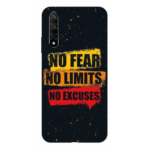 Husa Silicon Soft Upzz Print Huawei Nova 5t Model No Fear imagine itelmobile.ro 2021