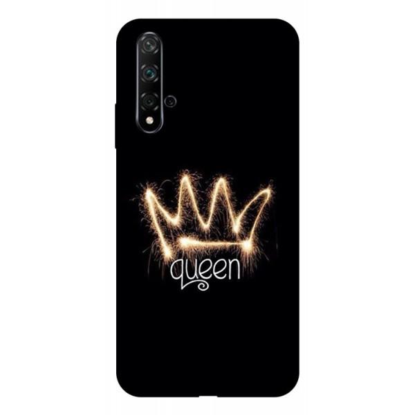 Husa Silicon Soft Upzz Print Huawei Nova 5t Model Queen imagine itelmobile.ro 2021