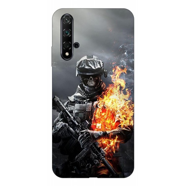 Husa Silicon Soft Upzz Print Huawei Nova 5t Model Soldier imagine itelmobile.ro 2021