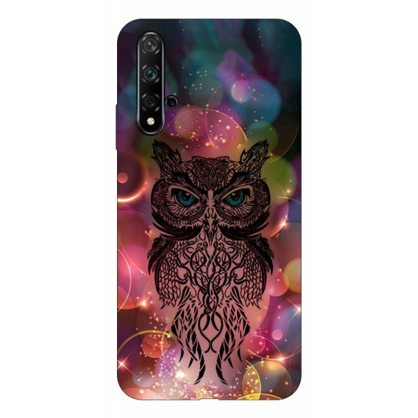 Husa Silicon Soft Upzz Print Huawei Nova 5t Model Sparkle Owl imagine itelmobile.ro 2021