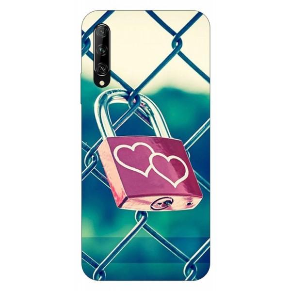 Husa Silicon Soft Upzz Print Huawei P Smart Pro 2019 Model Heart Lock imagine itelmobile.ro 2021