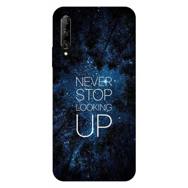 Husa Silicon Soft Upzz Print Huawei P Smart Pro 2019 Model Never Stop imagine itelmobile.ro 2021