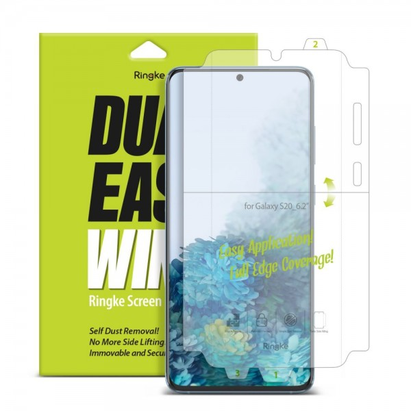 Folie Premium Full Cover Ringke Dual Easy Samsung Galaxy S20 Ultra Transparenta -2 Bucati In Pachet imagine itelmobile.ro 2021