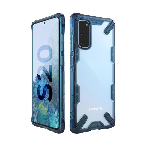 Husa Premium Ringke Fusion X Samsung Galaxy S20 Space Blue imagine itelmobile.ro 2021