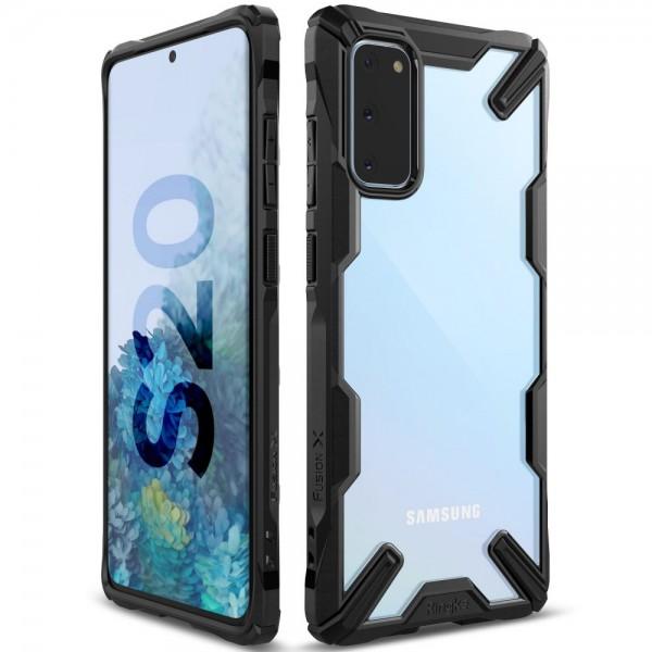 Husa Premium Ringke Fusion X Samsung Galaxy S20 , Negru Transparent imagine itelmobile.ro 2021