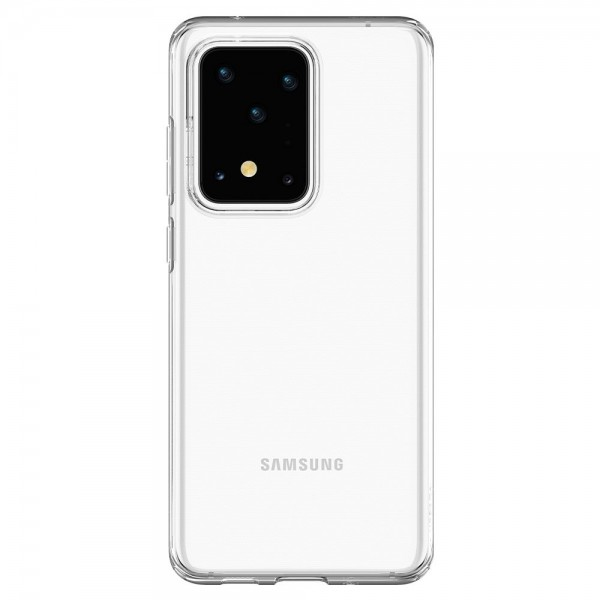 Husa Spigen Liquid Crystal Samsung Galaxy S20 Ultra, Transparent ,silicon imagine itelmobile.ro 2021